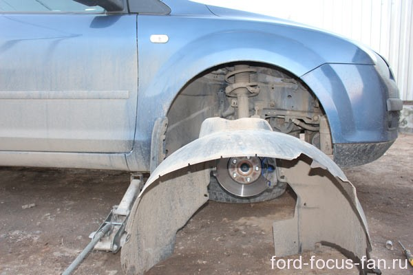 removing the wheel arch liner for Ford focus 2