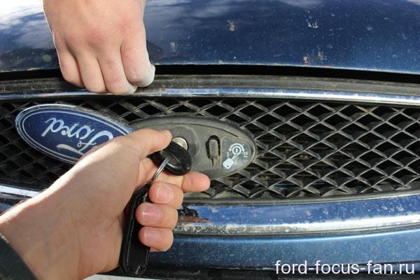 открыть капот форд фокус 1