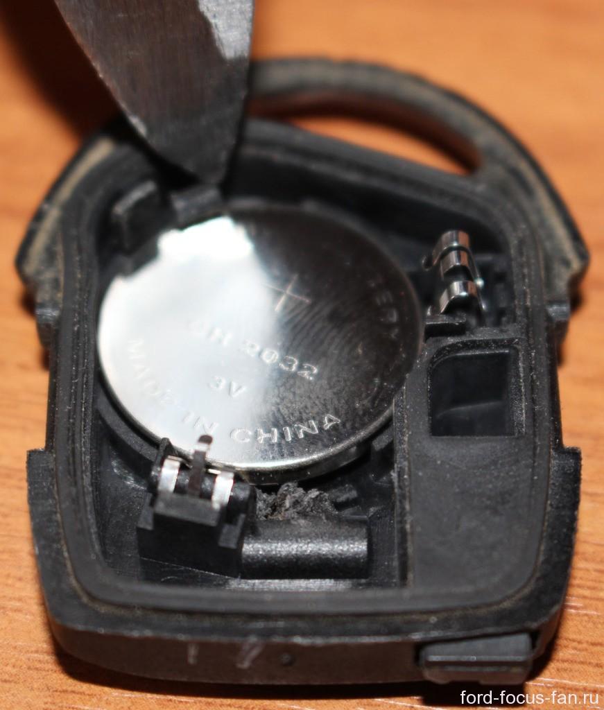 замена батарейки в ключе зажигания форд фокус 2