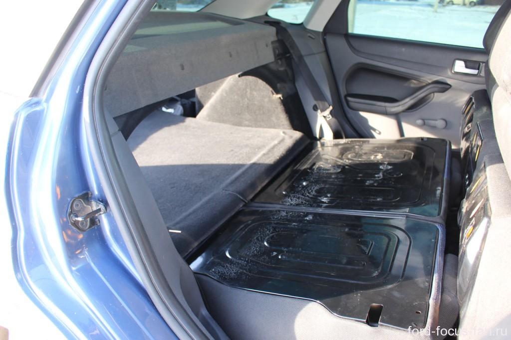 максимальный объем багажника форд фокус 2 седан при разложенных сидениях