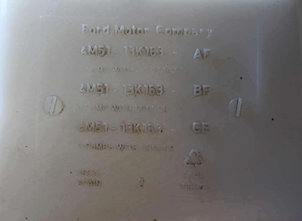 финис код номер бачка омывателя форд фокус 2