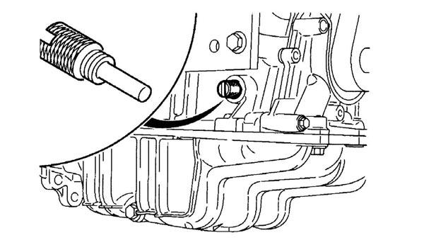 установка пин-фиксатора для фиксации коленчатого вала форд фокус 2