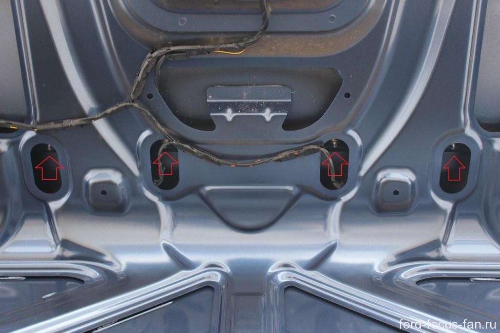 как снять планку крышки багажника форд фокус 2 седан