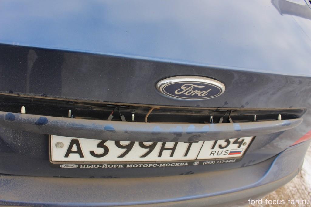 снятие молдинга багажной крышки форд фокус 2 седан