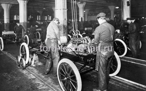 первый конвейер Форд